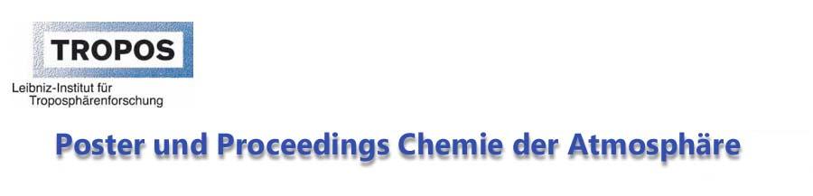 Postergalerie aus der Chemie der Atmosphäre